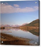 Loch Leven And Morvern Hills Winter2 Acrylic Print