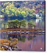 Loch Maree In Autumn Acrylic Print