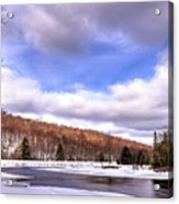 Lock And Dam Snowscape Acrylic Print