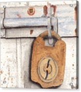 Lock And Latch Acrylic Print