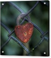Lock Of Love Acrylic Print