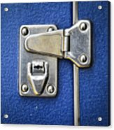 Lock On A Blue Suitcase Acrylic Print