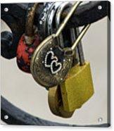Lock With Rhinestones Acrylic Print