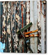 Locked Door Acrylic Print