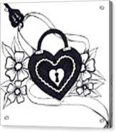 Locked Love Acrylic Print