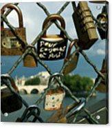 Locked Acrylic Print by Milan Mirkovic
