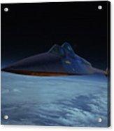 Lockheed A-12 Oxcart Oil Acrylic Print