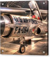 Lockheed F-94 Model C Starfire Acrylic Print