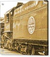 Locomotive And Coal Car Of Yesteryear Acrylic Print