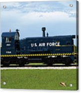 Locomotive For Titan Rockets At Cape Canaveral In  Florida Acrylic Print