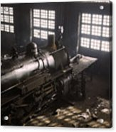 Locomotive Repair Shop - December 1942 Acrylic Print