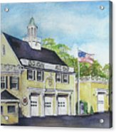 Locust Valley Firehouse Acrylic Print