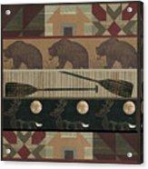 Lodge Cabin Quilt Acrylic Print