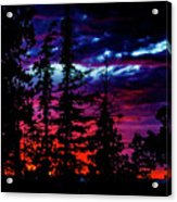Lodge Sunset Acrylic Print