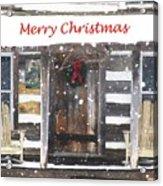 Log Cabin Christmas Acrylic Print