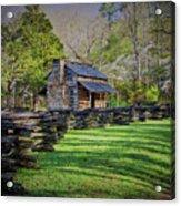 Log Cabin, Smoky Mountains, Tennessee Acrylic Print
