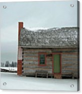 Log Cabin In The Snow Acrylic Print