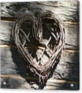 Log Cabin Love Acrylic Print