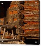 Log Cabin Acrylic Print by Robert Frederick