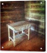 Log Cabin Table Acrylic Print