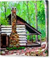 Log Cabin V Acrylic Print