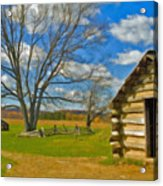 Log Cabin Valley Forge Pa Acrylic Print