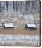 Log Cabins In Valley Forge Acrylic Print