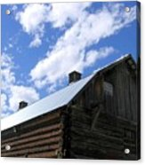 Log Clydesdale Barn Acrylic Print