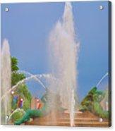Logan Circle Fountain 2 Acrylic Print