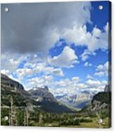Logan Pass Panorama - Glacier National Park Acrylic Print