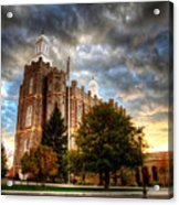 Logan Temple Cloud Backdrop Acrylic Print
