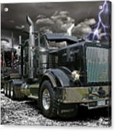 Logger On A Stormy Night Acrylic Print