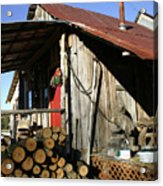 Logs For Winter Acrylic Print