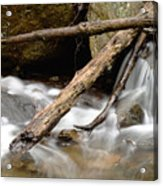 Logs In Stream Acrylic Print