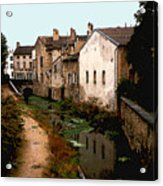 Loire Valley Village Scene Acrylic Print