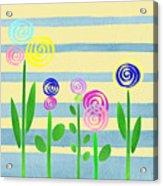Lollipop Flower Bed Acrylic Print