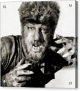 Lon Chaney, Jr. As Wolfman Acrylic Print