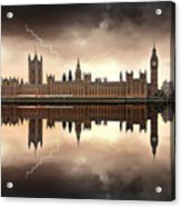 London - The Houses Of Parliament  Acrylic Print