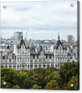 London Along The River Thames Acrylic Print