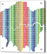 London Boroughs Map - Rainbow Acrylic Print