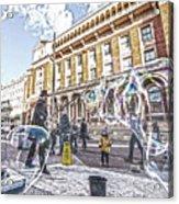 London Bubbles B Acrylic Print