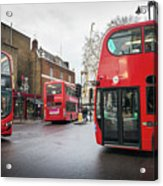 London Buses Acrylic Print