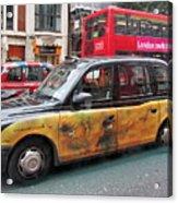 London Busy Street Acrylic Print