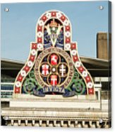 London Chatham And Dover Railway Crest With Invicta Motto Blackfriars Railway Station Acrylic Print