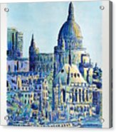 London City St Paul's Cathedral Acrylic Print
