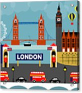 London England Horizontal Scene - Collage Acrylic Print