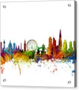 London England Skyline 16x20 Ratio Acrylic Print