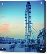 London Eye At Dusk Acrylic Print