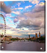London Eye Evening Acrylic Print