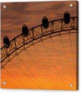 London Eye Sunset Acrylic Print